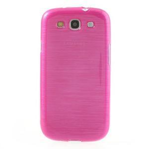 Brush gelový kryt na Samsung Galaxy S III / Galaxy S3 - rose - 2
