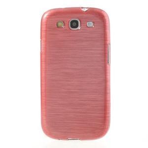 Brush gelový kryt na Samsung Galaxy S III / Galaxy S3 - růžový - 2