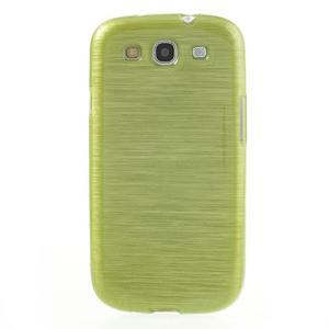 Brush gelový kryt na Samsung Galaxy S III / Galaxy S3 - zelený - 2