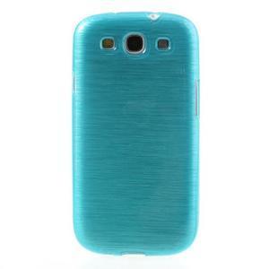 Brush gelový kryt na Samsung Galaxy S III / Galaxy S3 - modrý - 2