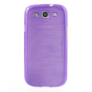Brush gelový kryt na Samsung Galaxy S III / Galaxy S3 - fialový - 2