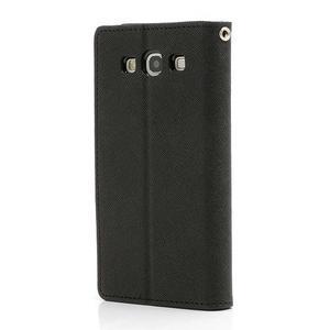 Mr. Fancy koženkové pouzdro na Samsung Galaxy S3 - černé - 2