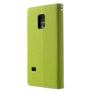 Diary PU kožené pouzdro na Samsung Galaxy S5 mini - zelené - 2