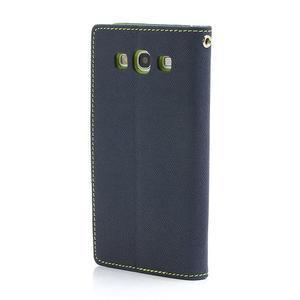 Mr. Fancy koženkové pouzdro na Samsung Galaxy S3 - tmavěmodré - 2