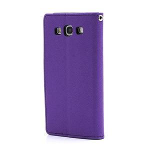 Mr. Fancy koženkové pouzdro na Samsung Galaxy S3 - fialové - 2