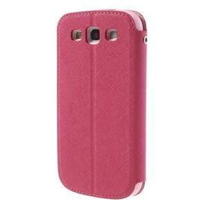Peněženkové pouzdro s okýnkem pro Samsung Galaxy S3 / S III - rose - 2