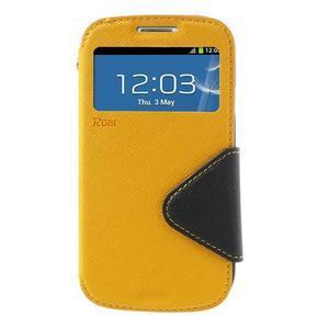 Peněženkové pouzdro s okýnkem pro Samsung Galaxy S3 / S III - žluté - 2