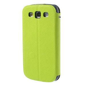 Peněženkové pouzdro s okýnkem pro Samsung Galaxy S3 / S III - zelené - 2
