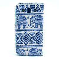 Peněženkové pouzdro na mobil Samsung Galaxy S III - sloni - 2/6