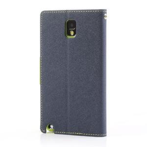 Goosp PU kožené pouzdro na Samsung Galaxy Note 3 - tmavěmodré - 2