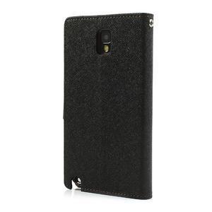 Goosp PU kožené pouzdro na Samsung Galaxy Note 3 - černé/hnědé - 2