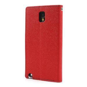 Goosp PU kožené pouzdro na Samsung Galaxy Note 3 - červené - 2
