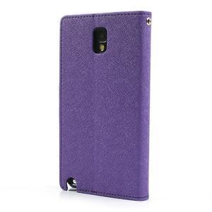 Goosp PU kožené pouzdro na Samsung Galaxy Note 3 - fialové - 2