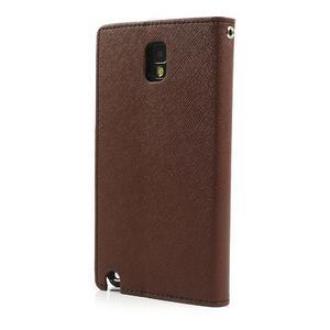 Goosp PU kožené pouzdro na Samsung Galaxy Note 3 - hnědé - 2