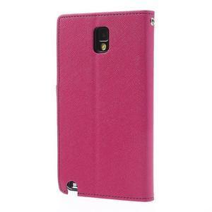 Goosp PU kožené pouzdro na Samsung Galaxy Note 3 - rose - 2