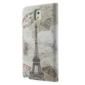 Peněženkové pouzdro na mobil Samsung Galaxy Note 3 - Eiffelova věž - 2