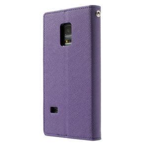 Diary PU kožené pouzdro na Samsung Galaxy S5 mini - fialové - 2