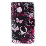 Koženkové pouzdro na mobil Sony Xperia E4 - motýlci - 2/6