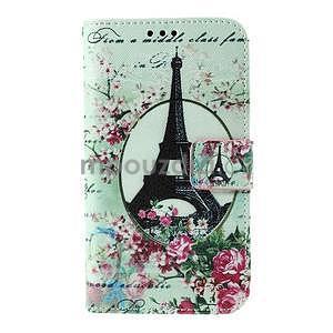 Koženkové pouzdro na mobil Sony Xperia E4 - Eiffelova věž - 2