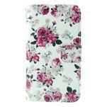 Koženkové pouzdro na mobil Sony Xperia E4 - růže - 2/6