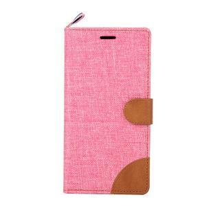 Jeans peněženkové pouzdro na mobil Sony Xperia M4 Aqua - růžové - 2