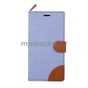 Jeans peněženkové pouzdro na mobil Sony Xperia M4 Aqua - světle modré - 2
