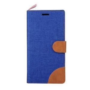 Jeans peněženkové pouzdro na mobil Sony Xperia M4 Aqua - modré - 2