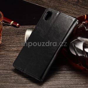 Koženkové pouzdro Sony Xperia M4 Aqua - černé - 2