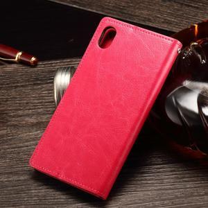 Koženkové pouzdro Sony Xperia M4 Aqua - rose - 2