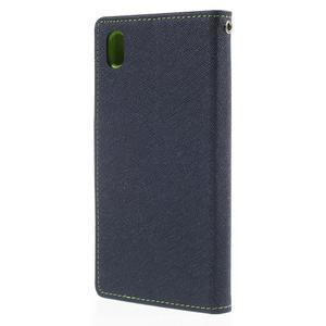 Ochranné pouzdro na Sony Xperia M4 Aqua - tmavěmodré/zelené - 2