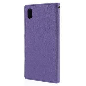 Ochranné pouzdro na Sony Xperia M4 Aqua - fialové/tmavěmodré - 2