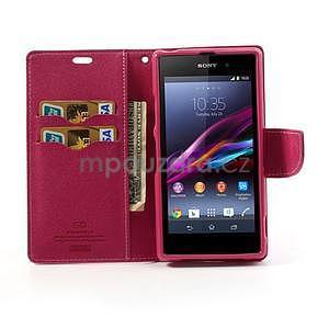 Fancy peněženkové pouzdro na mobil Sony Xperia Z1 - růžové - 2