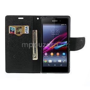 Fancy peněženkové pouzdro na mobil Sony Xperia Z1 - černé - 2