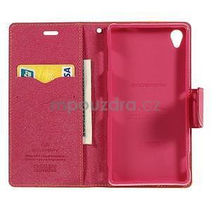 Peněženkové pouzdro na mobil Sony Xperia Z3 - žluté - 2