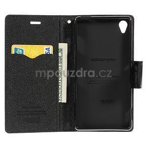 Peněženkové pouzdro na mobil Sony Xperia Z3 - černé - 2