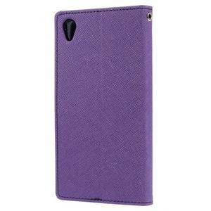 Peněženkové pouzdro na mobil Sony Xperia Z3 - fialové - 2