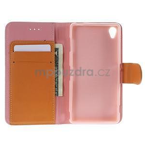 Koženkové pouzdro na Sony Xperia Z3 - růžové - 2