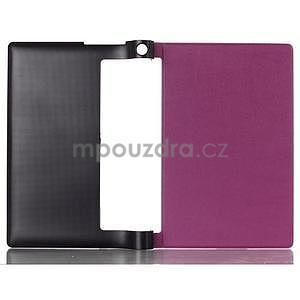 Koženkové pouzdro na Lenovo Yoga Tablet 2 8.0 - fialové - 2