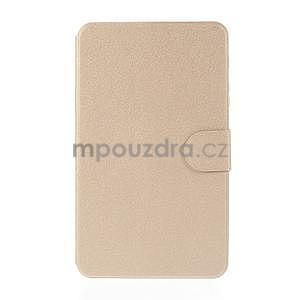 PU kožené peněženkové pouzdro pro tablet Samsung Galaxy Tab 4 8.0 - champagne - 2