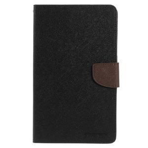Černé/hnědé peněženkové pouzdro Goospery na tablet Samsung Galaxy Tab 4 8.0 - 2