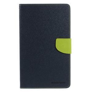 Modré peněženkové pouzdro Goospery na tablet Samsung Galaxy Tab 4 8.0 - 2
