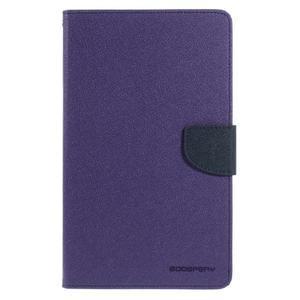 Fialové peněženkové pouzdro Goospery na tablet Samsung Galaxy Tab 4 8.0 - 2