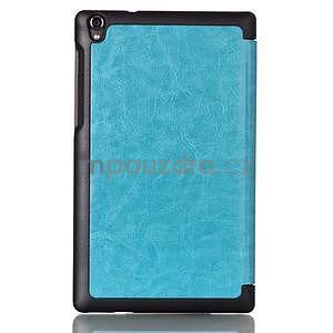 Světle modré pouzdro na tablet Lenovo S8-50 s funkcí stojánku - 2