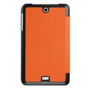 Trifold polohovatelné pouzdro na tablet Acer Iconia One 7 B1-770 - oranžové - 2