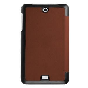 Trifold polohovatelné pouzdro na tablet Acer Iconia One 7 B1-770 - hnědé - 2