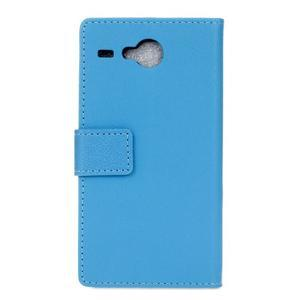 Gregory peněženkové pouzdro na Acer Liquid Z520 - modré - 2
