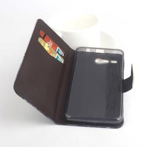 Lux peněženkové pouzdro na mobil Acer Liquid Z520 - malovaná dívka black - 2