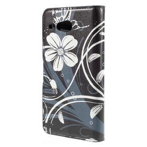 Nice koženkové pouzdro na mobil Acer Liquid Z520 - bílé květy - 2