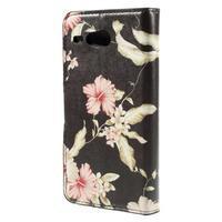 Nice koženkové pouzdro na mobil Acer Liquid Z520 - krásné květiny - 2/7