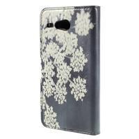 Nice koženkové pouzdro na mobil Acer Liquid Z520 - kvetoucí květy - 2/7